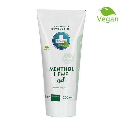 MENTHOL HEMP GEL kühlendes Massage Gel mit Hanf