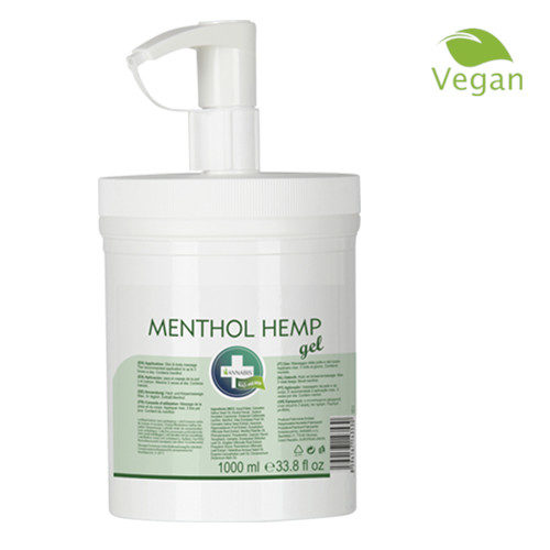 MENTHOL HEMP GEL Profi 1000ml Massage Gel von ANNABIS